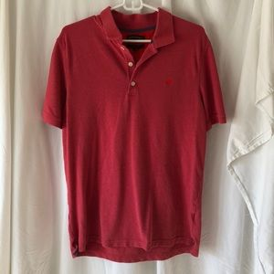 Banana Republic Men's heather cotton pique polo